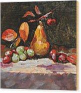 Fall Pear Wood Print by Ellen Howell