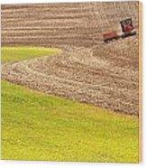 Fall Plowing Wood Print