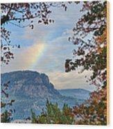 Fall Rainbow Wood Print