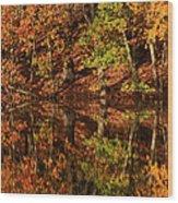 Fall Reflections Wood Print by Karol Livote