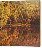 Fall Reflections. Loch Achray. Scotland Wood Print