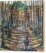 Fall Ride Wood Print