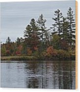 Fall River Colors Wood Print