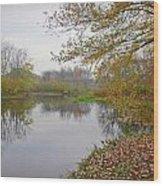 Fall River Park Wood Print