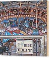 Fall River Ride Exit Wood Print