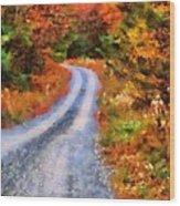 Fall Road To Paradise Wood Print