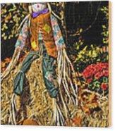Fall Scarecrow Wood Print