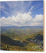 Fall Scene From North Fork Mountain Wood Print