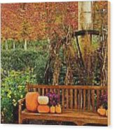 Fall Serenity Wood Print