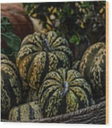 Fall Squash Harvest Wood Print