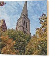 Fall Steeple Wood Print