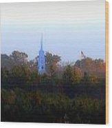 Fall Steeple Wood Print