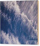 Fall Streak Clouds 5 Wood Print