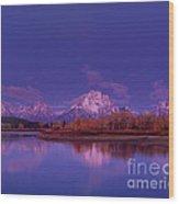 Fall Sunrise Grand Tetons National Park Wyoming Wood Print