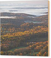 Fall Sunrise Over New Jersey Wood Print