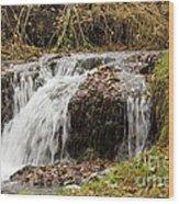Fall Time Waterfalls Wood Print