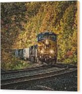 Fall Train Wood Print