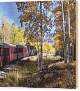Fall Train Ride New Mexico Wood Print