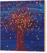 Fall Tree Fantasy By Jrr Wood Print
