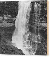 Waterfall Under The Bridge Wood Print