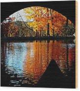 Fall Under The Bridge Wood Print