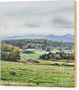 Fall Vermont Landscape Wood Print