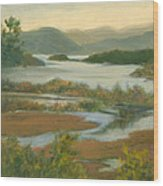Fall View From Boscobel Wood Print