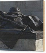 Fallen Artilleryman Wood Print