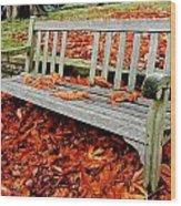 Fallen Bench Wood Print