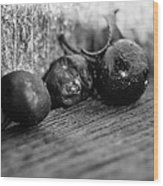 Fallen Berries Wood Print