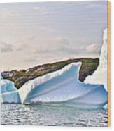 Fallen Clouds Icebergs In Saint Anthony Bay-newfoundland-canada  Wood Print