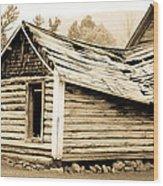 Fallen Homestead II Wood Print