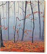Fallen Leaves Wood Print by Graham Gercken