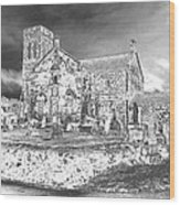 Fallen Night At Dunlop Kirk Wood Print