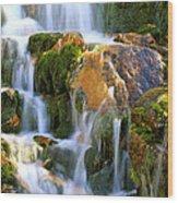 Fallin' Water Wood Print