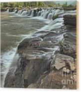 Falling Across The New River Wood Print