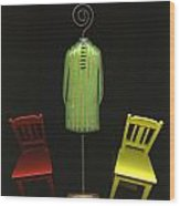Falling Chairs Wood Print