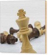 Falling Chess Piece Wood Print by Bernard Jaubert
