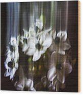 Falling Flowers Wood Print