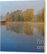 Falling For Reflections... Wood Print