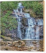 Falling From Mount Mitchell Wood Print