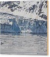 Falling Glacier Wood Print