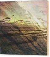Falling Sky Siesta Key Wood Print