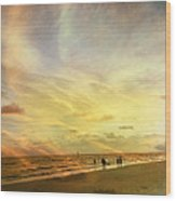 Falling Sky Siesta Key II Wood Print by Alison Maddex