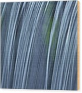 Falling Water Up Close Wood Print