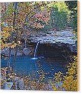 Falling Water Waterfall Wood Print