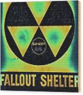 Fallout Shelter Abstract 2 Wood Print