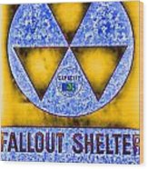 Fallout Shelter Abstract 4 Wood Print