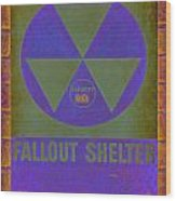 Fallout Shelter Abstract Wood Print