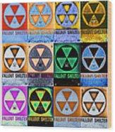 Fallout Shelter Mosaic Wood Print